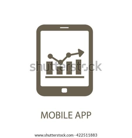 mobile app icon  - stock vector
