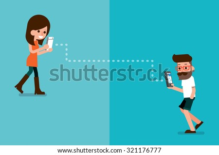 mobile connections. - stock vector