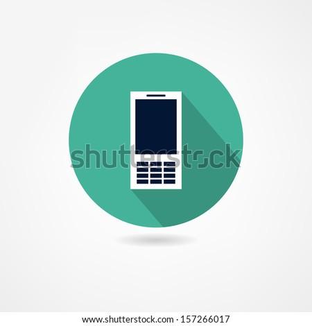 mobile icon - stock vector