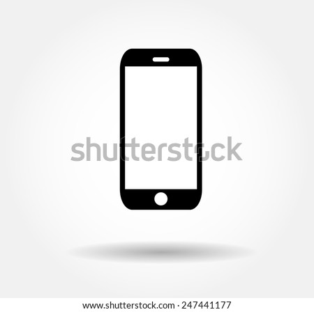 Mobile icon Vector illustration EPS 10 - stock vector