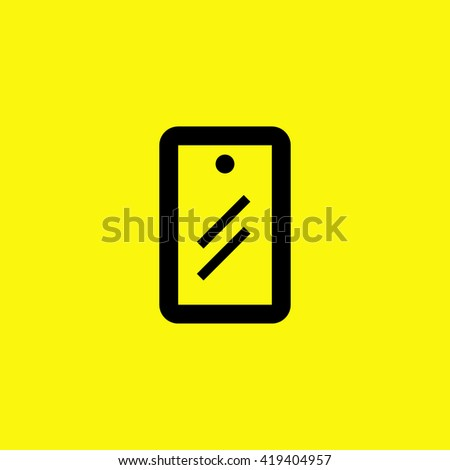 Mobile isolated minimal single flat linear icon for application and info-graphic. Protection film line vector icon for websites and mobile minimalistic flat design. - stock vector