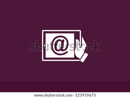 Mobile mail icon. Vector Eps 10 - stock vector