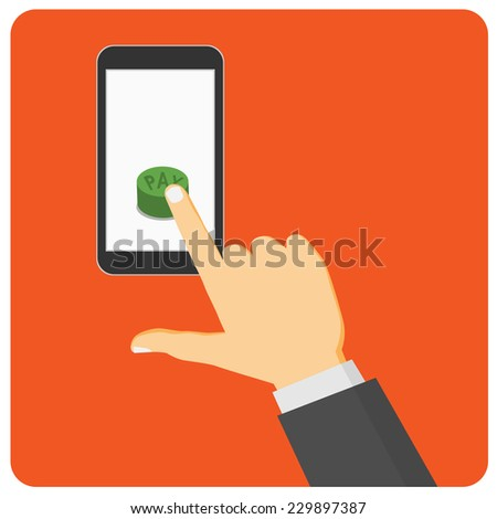 mobile payment - stock vector