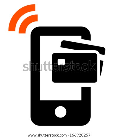 Mobile payment icon - stock vector