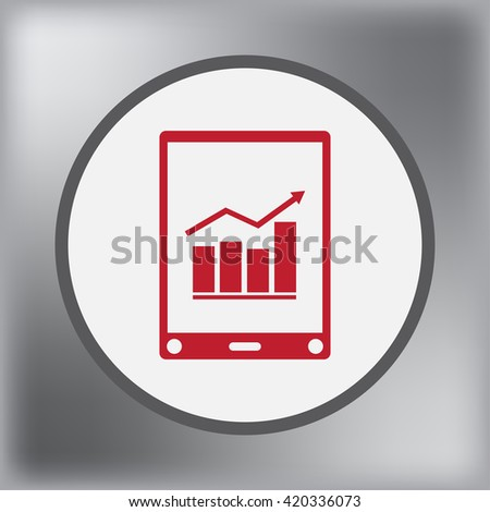 mobile phone, cell phone, mobile gadget - stock vector