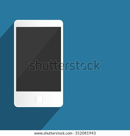 Mobile phone, isolated flat design - stock vector
