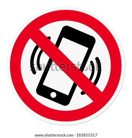 Mobile Phone prohibited - stock vector