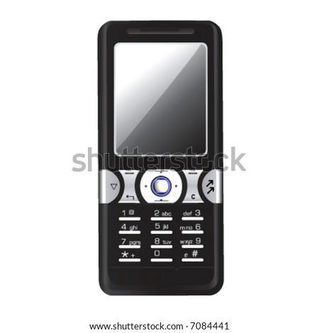 mobile phone vector 4 - stock vector