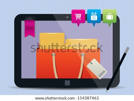 Mobile Shopping concept illustration - stock vector