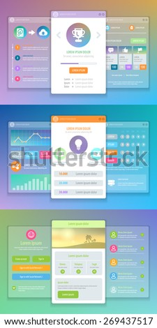 Mobile UI Design. Vector eps 10. - stock vector