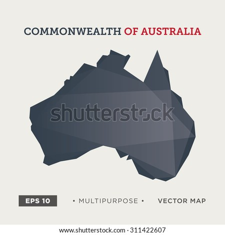 Moder map of Australia - stock vector