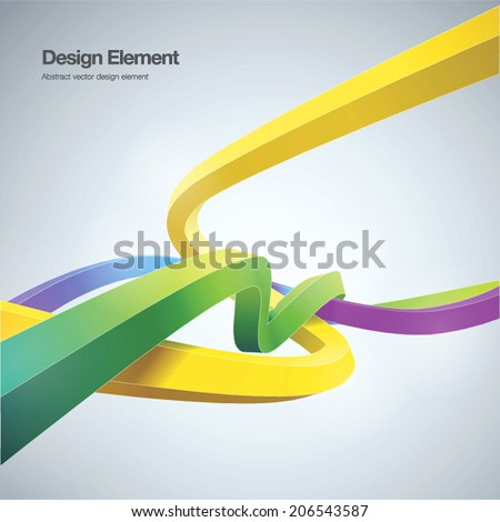 Modern abstract background ribbon style Vector illustration. can be used for workflow layout, banner, wallpaper, web design. - stock vector