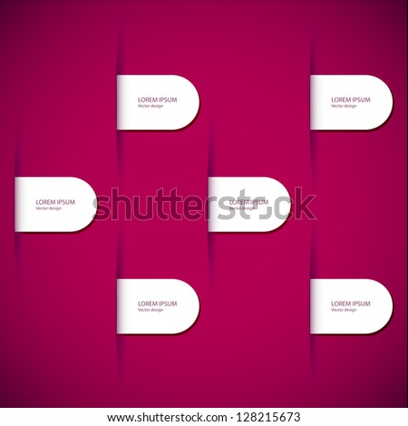 Modern abstract banner. Design for infographics. Business design and website template. - stock vector