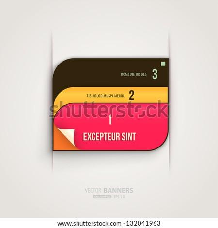 Modern abstract banner for business web design, eps 10 vector illustration - stock vector
