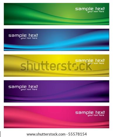 Modern Abstract Banner Set - stock vector