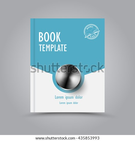 Modern abstract book template - stock vector