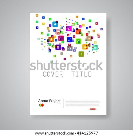 Modern abstract brochure book flyer design template - stock vector