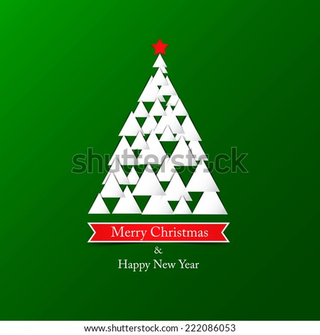 Modern abstract christmas tree background. Vector - stock vector