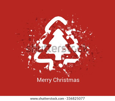 Modern abstract grunge Christmas tree background, eps10 vector illustration - stock vector