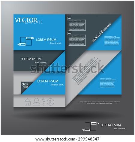 Modern abstract template design, eps10 Vector art.  - stock vector