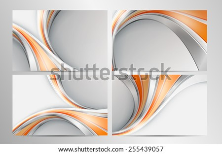 modern abstract vector backgrounds set with  lines. Eps10 - stock vector