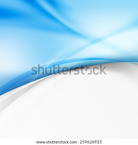 Modern abstract wave border ray line background. Vector illustration - stock vector