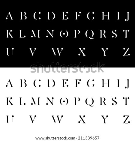 modern alphabetic fonts vector illustration - stock vector