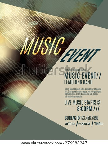 Modern and grunge club flyer template - stock vector