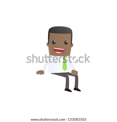 modern and stylish web character - stock vector