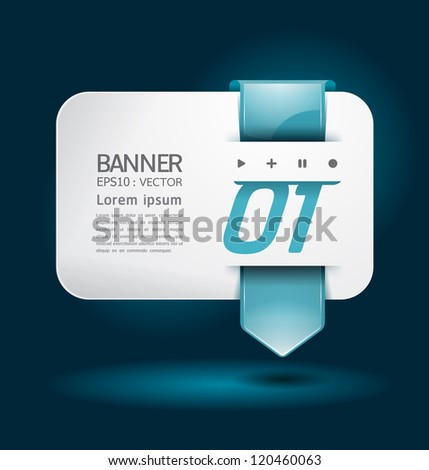 Modern arrow Design template / can be used for infographics / numbered banners / horizontal cutout lines / graphic or website layout vector illustration. - stock vector