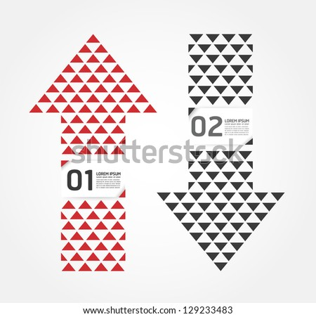 Modern Arrow Design template / can be used for infographics / numbered banners / horizontal cutout lines / graphic or website layout vector - stock vector