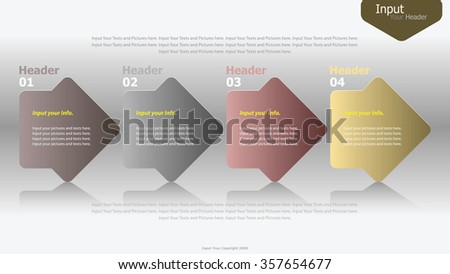 Modern arrow infographics options banner. Vector illustration. can be used for workflow layout, diagram, number options, web design. - stock vector