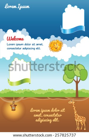Modern background for kid web template - stock vector