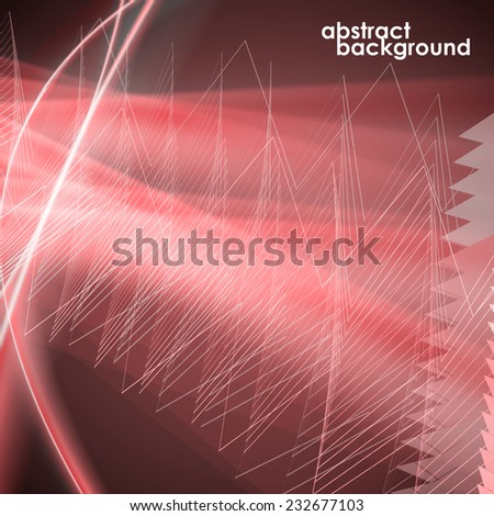 modern background, zigzag, abstract glow, glare - stock vector