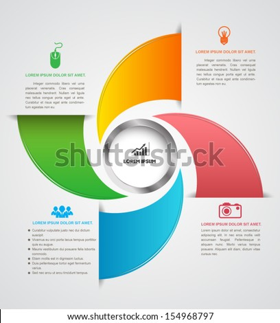 Modern box infographics options banner. Vector illustration. can be used for workflow layout, diagram, number options, web design, business concept. - stock vector