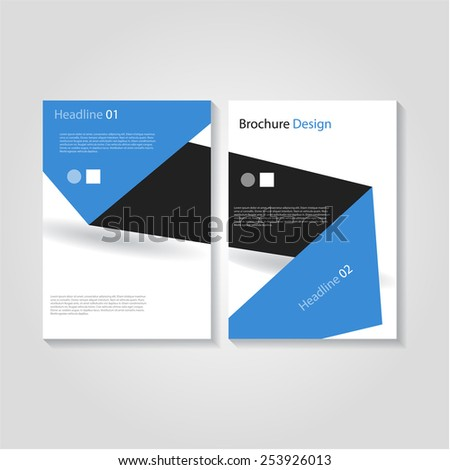Modern brochure / flyer design, eps10 Vector. - stock vector