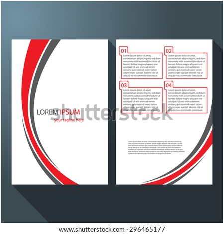Modern brochure / flyer design, eps10 Vector. - stock vector