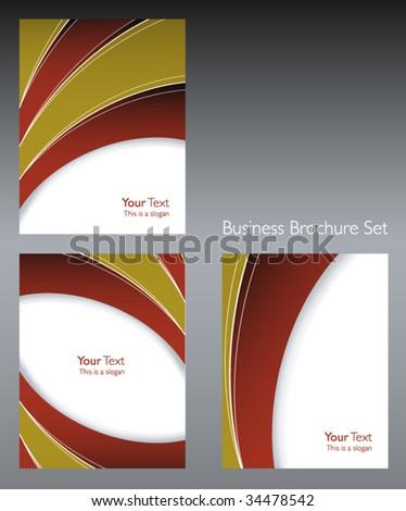 Modern brochure set - stock vector