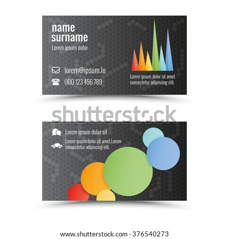 Modern business card template with cgraph theme  - stock vector