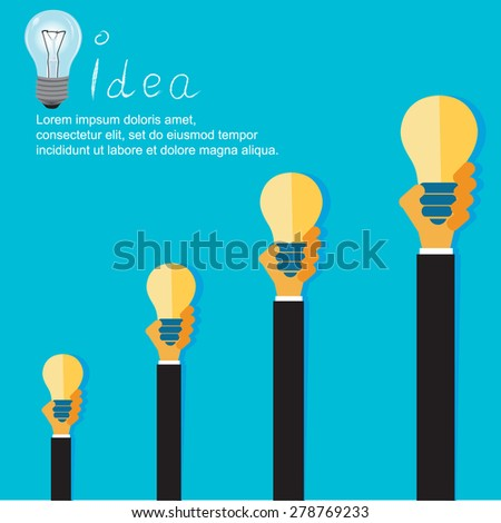 Modern business concept in flat design for web. - stock vector