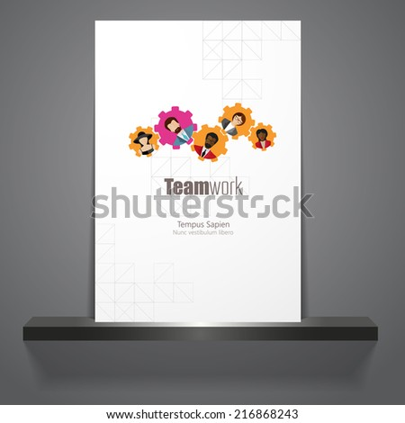 Modern Business Concept, The idea of teamwork and success  - stock vector