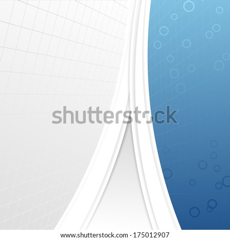 Modern business folder template - geometrical abstraction. Vector illustration - stock vector