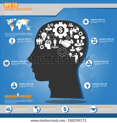 Modern business infographic template - innovation concept - stock vector