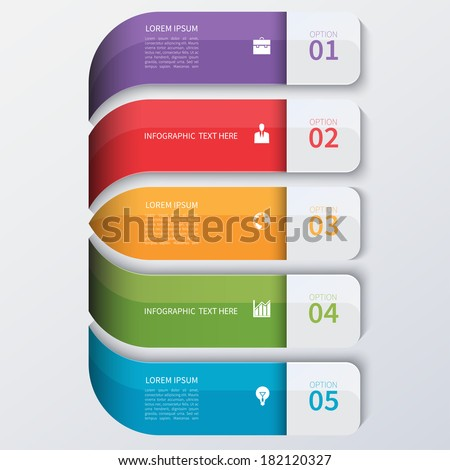 Modern business infographics options banner. - stock vector