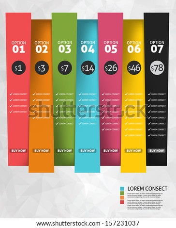 Modern business options banner. Vector illustration. Infographic and design  - stock vector