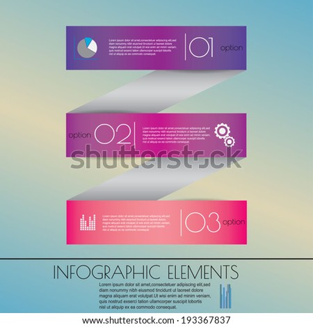 Modern business steb origami style options banner. - stock vector