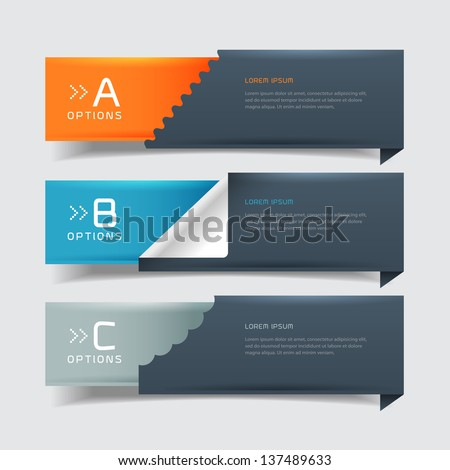 Modern business steb origami style options banner. Vector illustration. can be used for workflow layout, diagram, number options, step up options, web design, infographics. - stock vector