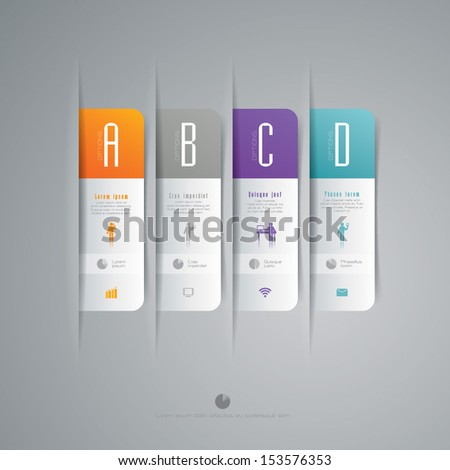 Modern business step origami style options banner. Vector illustration. can be used for workflow layout, diagram, number options, step up options, web template, infographics.  - stock vector