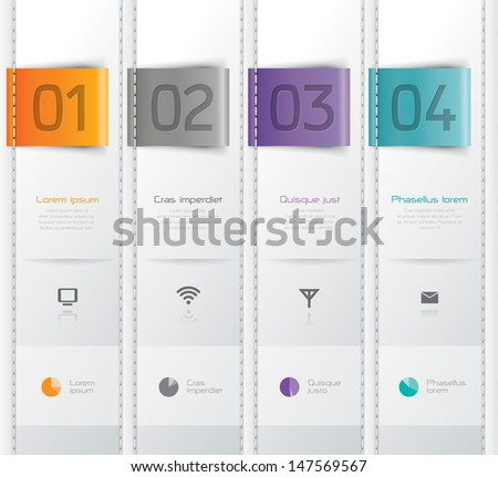 Modern business style options banner. Vector illustration. can be used for workflow layout, diagram, number options, step up options, web design, infographics.  - stock vector