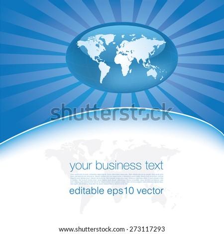Modern Business Template - stock vector